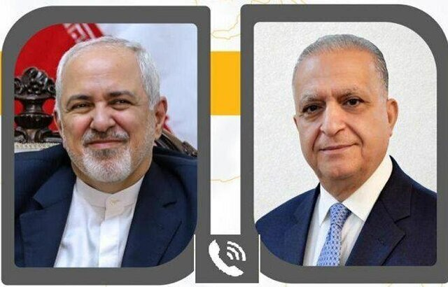 Iran, Iraq FMs hold phone conversation
