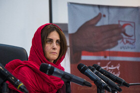 The head of the ICRC delegation in Tehran, Barbara Rizzoli, is present in a press conference, Tehran, Iran, May 5, 2020.