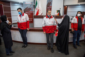 On the sidelines of the joint press conference between the head of the ICRC delegation in Tehran, Barbara Rizzoli, and Chief of the Red Crescent Society of the Islamic Republic of Iran, Karim Hemmati, Tehran, Iran, May 5, 2020.