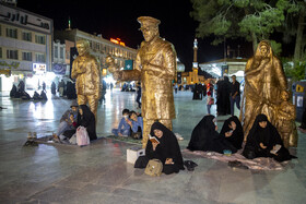 Iranians hold the first 'Laylat al-Qadr' ceremony of Ramadan Month, Qom, Iran, May 12, 2020. Muslims believe that on this night the blessings and mercy of God are abundant, sins are forgiven and supplications are accepted.