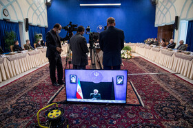 On the sidelines of the session of Iran's cabinet ministers, Tehran, Iran, May 13, 2020.