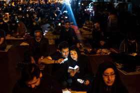 Iranians hold the second 'Laylat al-Qadr' ceremony of Ramadan Month, Tehran, Iran, May 14, 2020.
