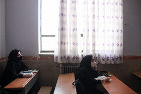 Schools are reopened in Semnan, Iran, May 16, 2020. Going to schools is not compulsory and students who need classroom teaching can go to classes.