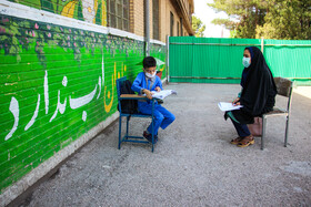 Schools are reopened in Kerman, Iran, May 16, 2020. Going to schools is not compulsory and students who need classroom teaching can go to classes.