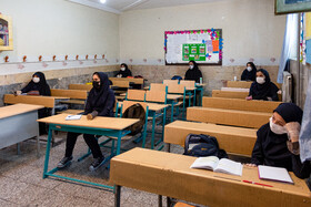 Schools are reopened in Alborz, Iran, May 16, 2020. Going to schools is not compulsory and students who need classroom teaching can go to classes.