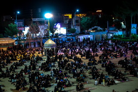 People hold the third Laylat al-Qadr Ceremony, Yazd, Iran, May 16, 2020.