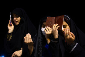 People hold the third Laylat al-Qadr Ceremony, Kerman, Iran, May 16, 2020.