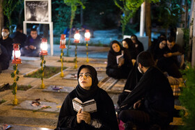 People hold the third Laylat al-Qadr Ceremony, Tehran, Iran, May 16, 2020.