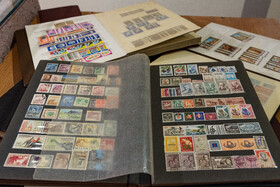 Historic stamps are seen at Alborz Stamp Museum, Karaj, Iran, May 19, 2020.