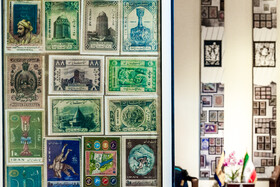 Iran's first stamps are seen in the photo, Alborz Stamp Museum, Karaj, Iran, May 19, 2020.