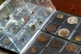 Historic coins are seen at Alborz Stamp Museum, Karaj, Iran, May 19, 2020.