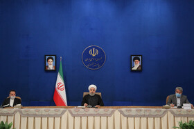 The meeting between Iranian President Hassan Rouhani and political activists, Tehran, Iran, May 18, 2020.
