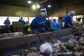 "Correspondents visit ""Aradkouh waste recycling center"" in Tehran, Iran, May 19, 2020."