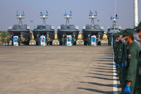 The ceremony for delivering new generation speed boats to Iran's Islamic Revolution Guards Corps (IRGC), Iran, May 28, 2020.
