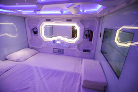 Iran's first capsule hotel is unveiled by officials of Tourism Ministry, Tehran, Iran, June 14, 2020.