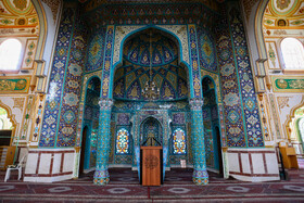 Inside of Shafei Jameh Mosque is seen in the photo, Kermanshah, Iran, June 21, 2020.