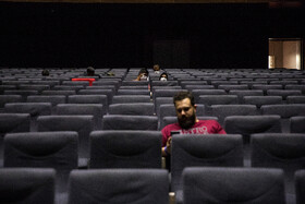 People are seen in Charsou Cineplex after the reopening of movie theaters, Tehran, Iran, June 24, 2020.