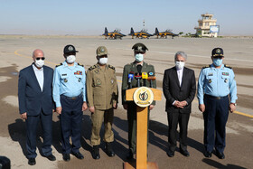 A ceremony for delivering three Kowsar fighter jets to the Islamic Republic of Iran Air Force, Iran, June 25, 2020.
