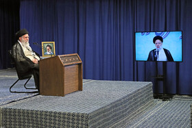 Iran's Leader delivers speech via videoconferencing