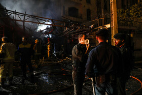 Fire and explosion in a medical clinic in Tehran, Iran, June 30, 2020.