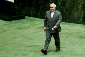 Iranian Foreign Minister Mohammad Javad Zarif is present in the public session of Iran's Parliament, Tehran, Iran, July 5, 2020.