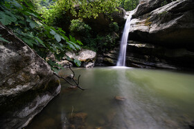Sansang Waterfall is seen in the photo, Golestan, Iran, July 6, 2020. Sasang Waterfall, located in the south-west of Minudasht County of Golestan Province, lies in the heights of Caspian Hyrcanian mixed forests.