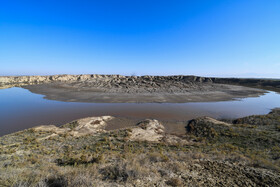 A mud volcano is seen in the photo, Golestan, Iran, July 7, 2020.