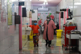 Children suspected to be infected with the coronavirus are seen at Taleghani Hospital, Gorgan, Iran, July 13, 2020.