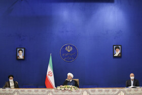 The session of the Supreme Council of Economic Cooperation is held in the presence of Iran's senior officials, Tehran, Iran, July 13, 2020.