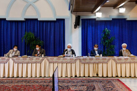 The session of the Supreme Council of Cultural Revolution is held in the presence of Iran's senior officials, Tehran, Iran, July 14, 2020.