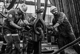 The oil platforms of Sahar I and II are seen in the photo, Iran, July 28, 2020. In these photos, it is tried to show some aspects of work and life in the oil platforms of Sahar I and II.
