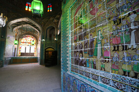 The historical building of Tekiye Moaven Almolk is seen in the photo, Kermanshah, Iran, July 20, 2020.