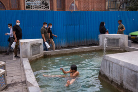 A teenager has leisure amid the outbreak of the coronavirus, Tehran, Iran, August 3, 2020.