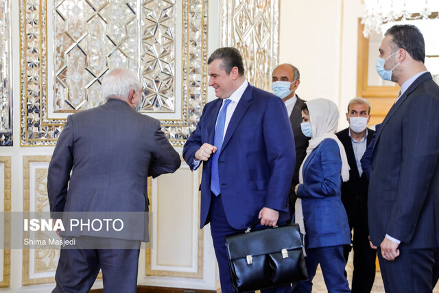 Zarif receives Chairman of Russian Duma's Foreign Affairs Committee