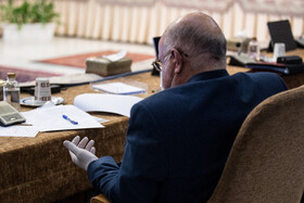 Iran's Oil Minister, Bijan Zanganeh, is present in the session of the Supreme Council of Economic Cooperation, Tehran, Iran, August 4, 2020.
