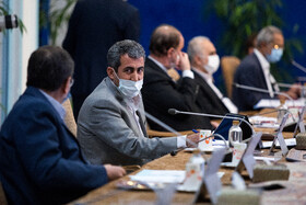 On the sidelines of the session of the Supreme Council of Economic Cooperation, Tehran, Iran, August 4, 2020.