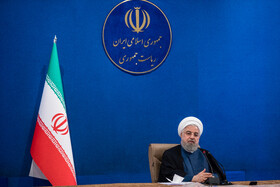 Iranian President, Hassan Rouhani, is present in the session of the Supreme Council of Economic Cooperation, Tehran, Iran, August 4, 2020.