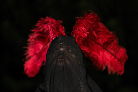 Ta'zieh performance of the martyrdom of Imam Hussain (peace be upon him) on Ashura Day, Tehran, Iran, August 30, 2020.