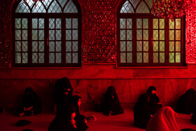 The mourning ceremony of the night of Ashura at the shrine of Imamzadeh Saleh in Tajrish of Tehran, Iran, August 29, 2020.