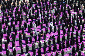 The mourning ceremony of Ashura Day at Palestine Square, Tehran, Iran, August 30, 2020.