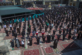 The mourning ceremony of Ashura Day at the Holy Shrine of Hazrat Masoumeh, Qom, Iran, August 30, 2020.