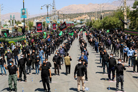 The mourning ceremony of Ashura Day in Yasouj, Iran, August 30, 2020.