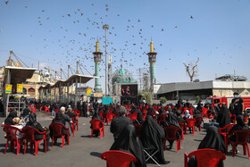 The mourning ceremony of Ashura Day at the shrine of Imamzadeh Saleh in Tehran, Iran, August 30, 2020.