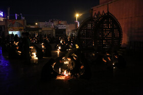 The mourning ceremony of Sham-e Ghariban is held in Yazd, Iran, August 30, 2020.