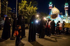 The mourning ceremony of Sham-e Ghariban is held Palestine Square, Tehran, Iran, August 30, 2020.