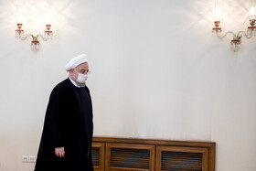 Iranian President, Hassan Rouhani, is seen before the beginning of his meeting with Swiss Foreign Minister, Ignazio Cassis, Tehran, Iran, September 7, 2020.