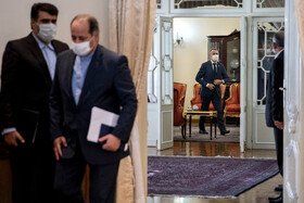 On the sidelines of the meeting between Iranian President, Hassan Rouhani, and Swiss Foreign Minister, Ignazio Cassis, Tehran, Iran, September 7, 2020.