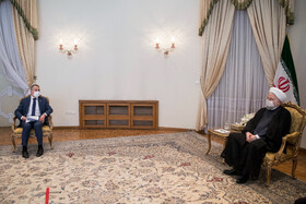 The meeting between Iranian President, Hassan Rouhani (right), and Swiss Foreign Minister, Ignazio Cassis, Tehran, Iran, September 7, 2020.