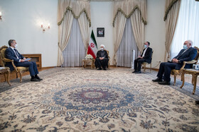 The meeting between Iranian President, Hassan Rouhani, and Swiss Foreign Minister, Ignazio Cassis, Tehran, Iran, September 7, 2020.