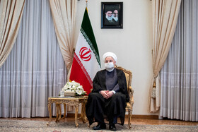 Iranian President, Hassan Rouhani, is seen during his meeting with Swiss Foreign Minister, Ignazio Cassis, Tehran, Iran, September 7, 2020.